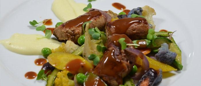 Idée recette: Involitini jus de veau verveine, légumes glacés au délice d'ail