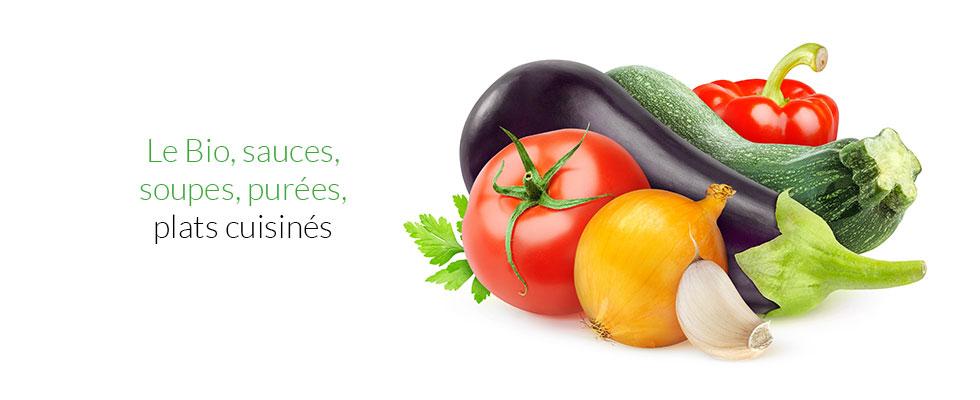 le bio, sauce, soupes, purées, plats cuisinés
